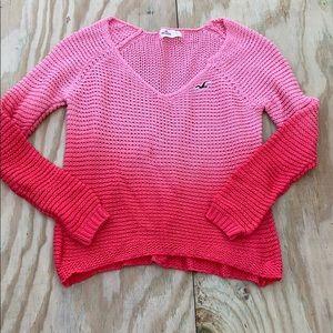 Hollister Ombré cable knit beach sweater